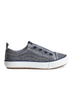 Trainers - Dark blue/Striped - Kids | H&M 1