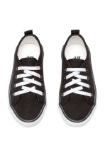 Canvas trainers - Black - Kids | H&M 2