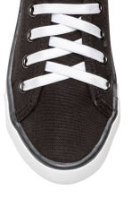 Canvas trainers - Black - Kids | H&M 3