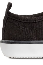 Canvas trainers - Black - Kids | H&M 4