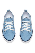 Canvas trainers - Blue/Chambray - Kids | H&M CN 2