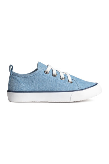 Canvas trainers - Blue/Chambray - Kids | H&M CN 1