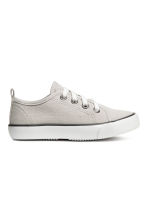 Canvas trainers - Light beige - Kids | H&M 1