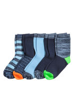 5-pack socks - Dark blue - Kids | H&M 1