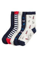 5-pack socks - Dark blue/Striped - Kids | H&M CN 1