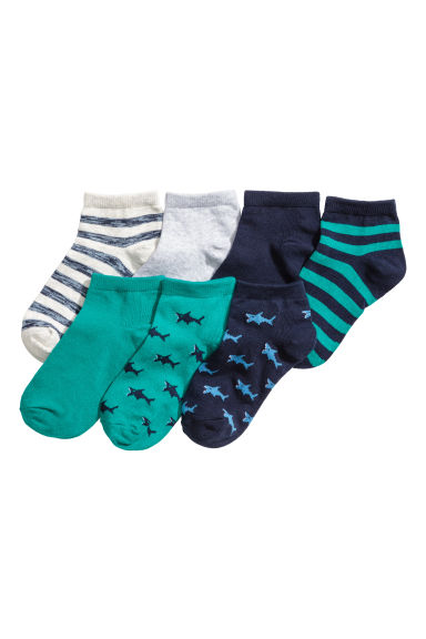7-pack trainer socks - Petrol green - Kids | H&M CN 1