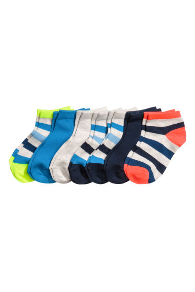7-pack trainer socks - Light grey/Striped - Kids | H&M 1
