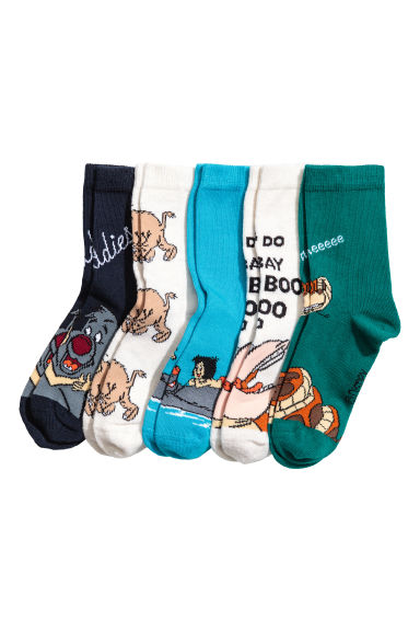 5-pack socks - White/The Jungle Book - Kids | H&M CA 1