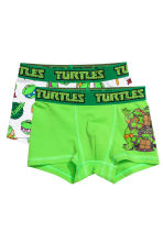 2-pack boxer shorts - Green/Turtles - Kids | H&M CN 1