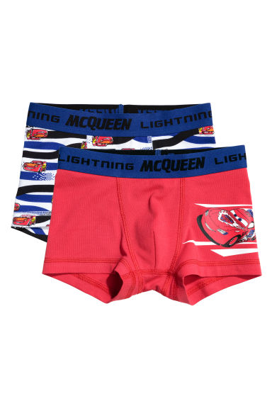 2-pack boxer shorts - Red/Cars - Kids | H&M 1