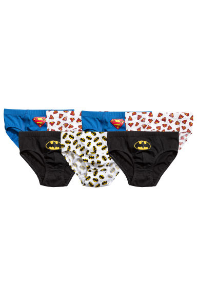 Lot de 7 slips - Batman/Superman noir - ENFANT | H&M FR