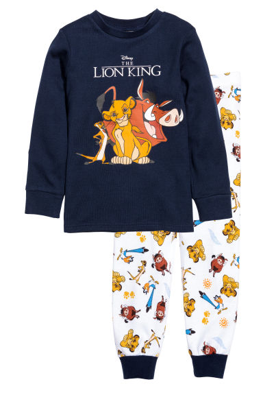 Pyjamas - Dark blue/The Lion King - Kids | H&M 1