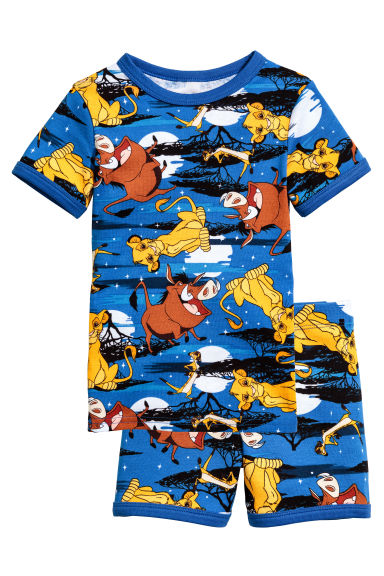 Jersey pyjamas - Blue/The Lion King - Kids | H&M 1