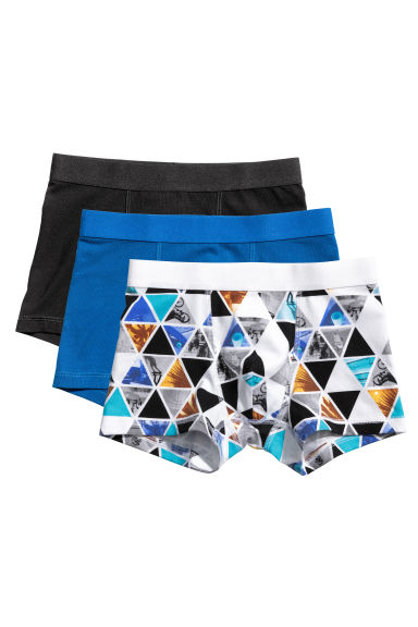 3-pack boxer shorts - White/Photo - Kids | H&M 1