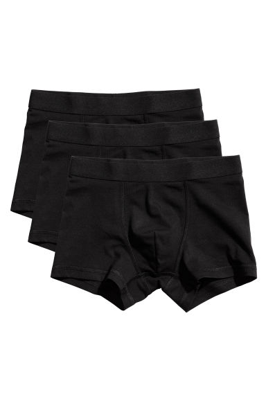 3-pack boxer shorts - Black - Kids | H&M 1