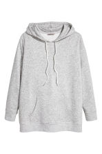 H&M+ Hooded sweater - Light grey marl - Ladies | H&M 2