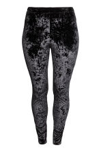 H&M+ Crushed velvet leggings - Black - Ladies | H&M CN 2