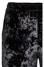 H&M+ Crushed velvet leggings - Black - Ladies | H&M CN 3