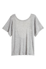 Top with a low back - Grey marl - Ladies | H&M CN 3