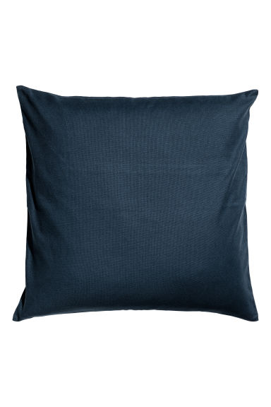 Cotton canvas cushion cover - Dark blue - Home All | H&M CN 1