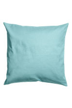 Cotton canvas cushion cover - Turquoise - Home All | H&M CN 1