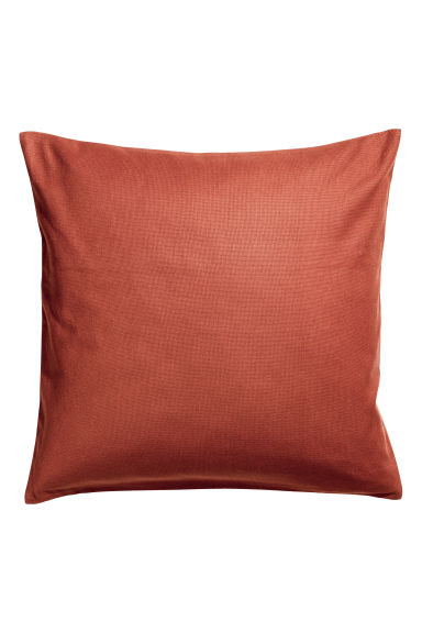 Cotton canvas cushion cover - Rust - Home All | H&M CN 1
