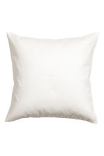 Cotton canvas cushion cover - White - Home All | H&M CN 1
