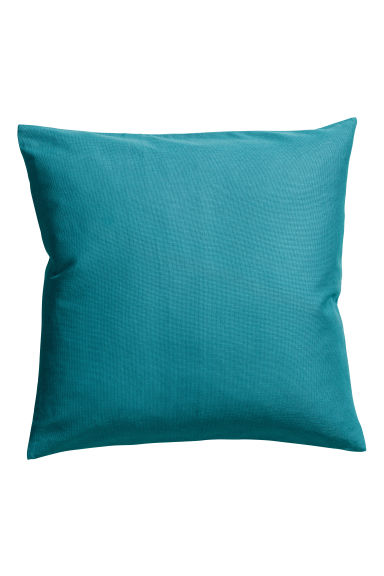 Cotton canvas cushion cover - Turquoise - Home All | H&M CA 1