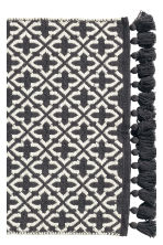 Jacquard-weave bath mat - Anthracite grey/Patterned - Home All | H&M CN 2