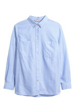 H&M+ Cotton shirt - Light blue - Ladies | H&M 1
