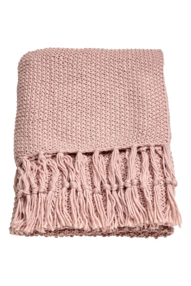 Plaid au point de riz - Rose ancien - Home All | H&M FR 1