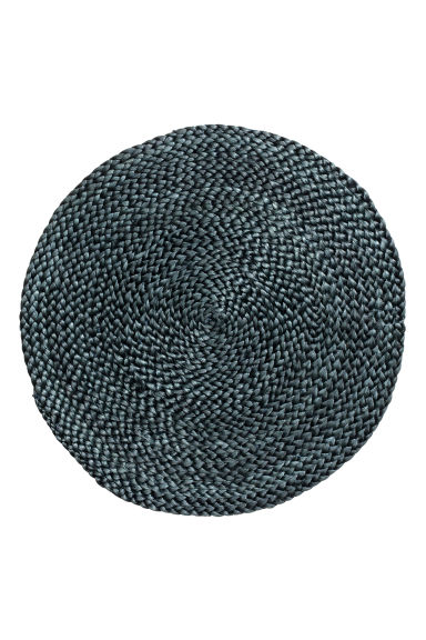 Round jute table mat - Anthracite grey - Home All | H&M CA 1