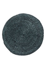 Round jute table mat - Anthracite grey - Home All | H&M CN 1