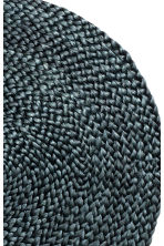 Round jute table mat - Anthracite grey - Home All | H&M CA 2