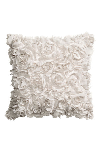 Cushion cover with flowers - Light beige - Home All | H&M CN 1