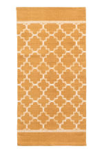 Patterned cotton rug - Mustard yellow - Home All | H&M CN 1