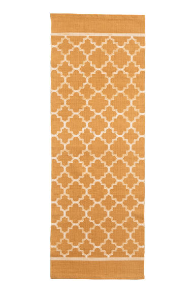 Tapis en coton à motif - Jaune moutarde - Home All | H&M FR 1