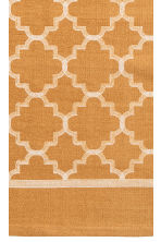 Patterned cotton rug - Mustard yellow - Home All | H&M CN 2