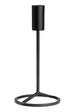 Small metal candlestick - Black - Home All | H&M CN 1
