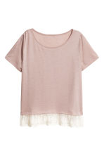 Top with a lace trim - Old rose - Ladies | H&M CN 2