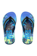 Flip-flops - Cornflower blue/Palms -  | H&M 1