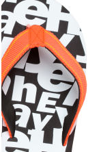 Flip-flops - Black/White - Kids | H&M 4