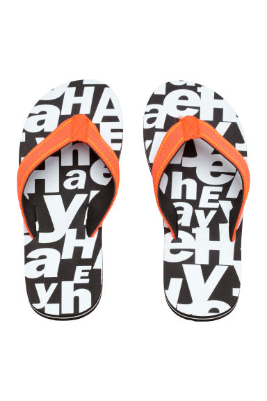 Flip-flops - Black/White - Kids | H&M 1