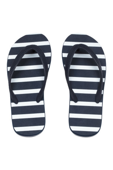 Flip-flops - Dark blue/Striped - Kids | H&M CN 1