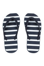 Flip-flops - Dark blue/Striped - Kids | H&M 1