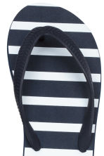 Flip-flops - Dark blue/Striped - Kids | H&M CN 3