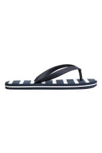 Flip-flops - Dark blue/Striped - Kids | H&M CN 2