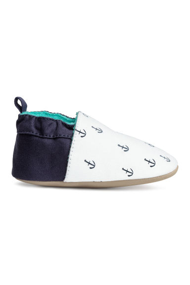 Soft slippers - White/Anchor - Kids | H&M 1
