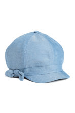 Cap with a bow - Light blue - Kids | H&M 1