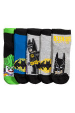 5-pack trainer socks - Grey/Batman -  | H&M CN 2